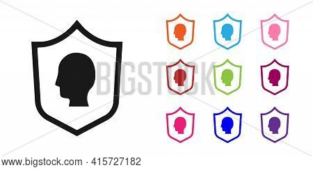 Black User Protection Icon Isolated On White Background. Secure User Login, Password Protected, Pers