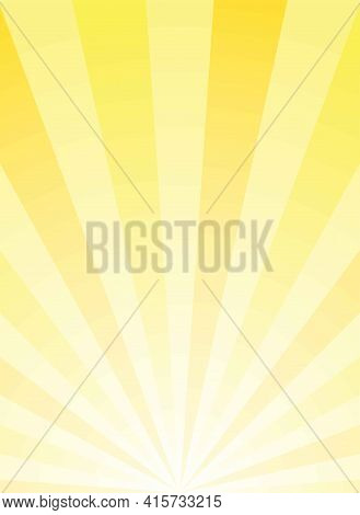 Sunlight Vertical Abstract Background. Gold Yellowcolor Burst Background. Vector Illustration. Sun B