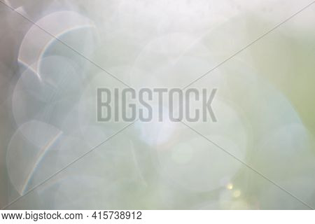 Bokeh Lights Background With Pastel Green Colors