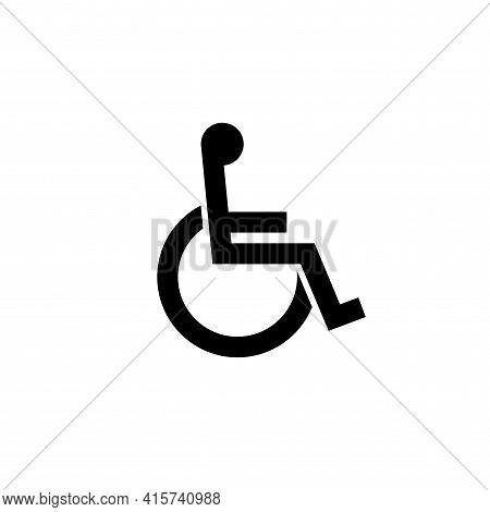 Handicap Signage Vector Wc  Icon. Disable Toilet Access Wheelchair Sign Design