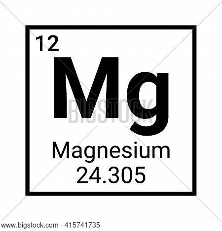 Magnesuim Periodic Element Table Symbol. Chemical Science Magnesium Icon