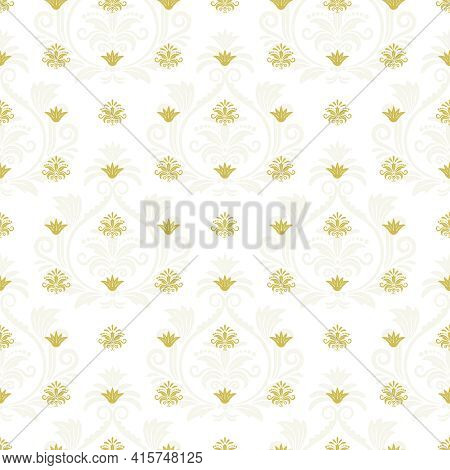 Ornamental Lace Floral Endless Texture. Repetition Decorative Element, Seamless Background. Vector I