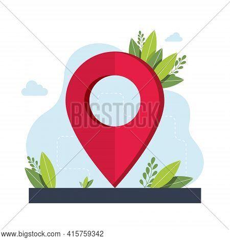 Geolocation Symbol. Gps Navigation Service Application. Maps, Get Directions Metaphors. Vector Isola