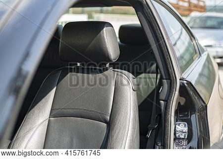 Leather Seat Of The Car