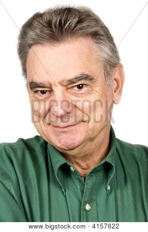 Handsome Mature Man Isolated On White
