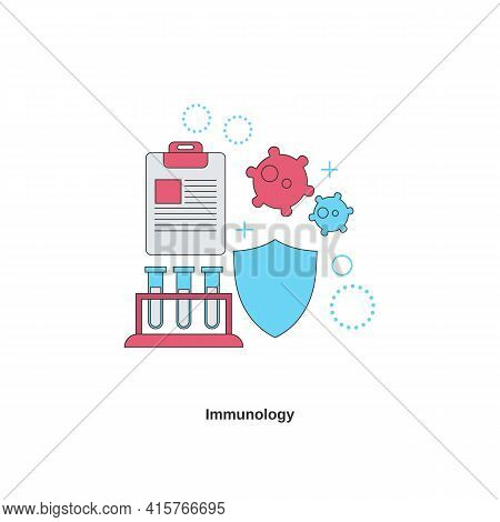 Immunology Concept. Immunity Health. Vector Illustration With White Background.