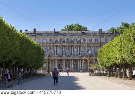 Nancy, France - June 24 2020: The Government Palace, Or Governor's Palace, Is A Large Mansion In The