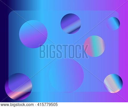 Abstract Background With Dynamic Spheres. Purple, Blue, Pink Bubbles, Balls. Glass Effect.modern Tre