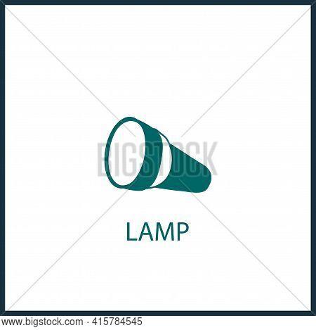 Flashlight Simple Vector Icon. Flashlight Isolated Vector Icon.