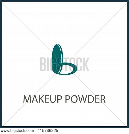 Makeup Powder Simple Vector Icon. Makeup Powder Isolated Icon.