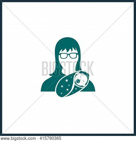 Breast Feeding, Woman Breastfeeding Her Child Icon Vector, Filled Simple Vector Icon. Woman Breastfe