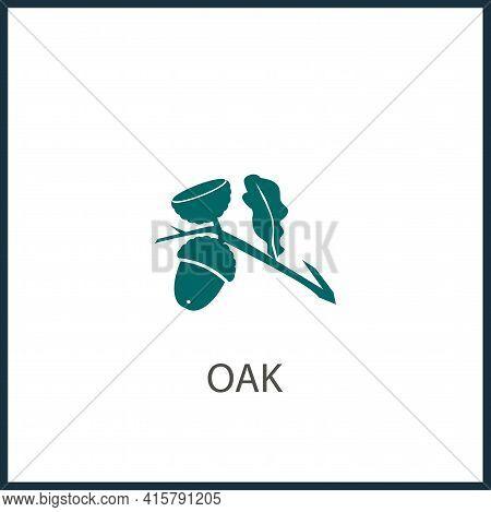 Oak Simple Vector Icon. Oak Isolated Icon.