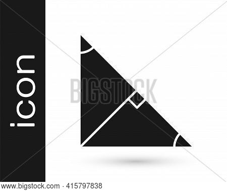 Black Angle Bisector Of A Triangle Icon Isolated On White Background. Vector