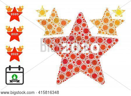 2020 Stars Hit Parade Covid Mosaic Icon. 2020 Stars Hit Parade Collage Is Made Of Randomized Covid I