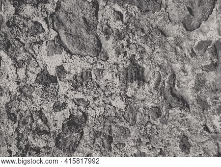 Stone Wall Textured. Grunge Cement Background. Vector