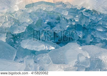 Abstract Background With Crushed Ice. High Quality Photo