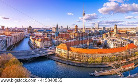 Panoramic View At The City Center Of Berlin, Germany