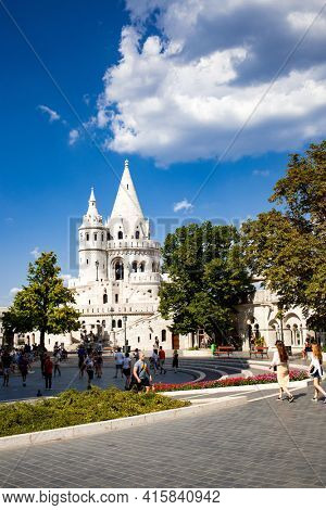fisherman's Bastion on the Buda Castle hill in Budapest  Hungary