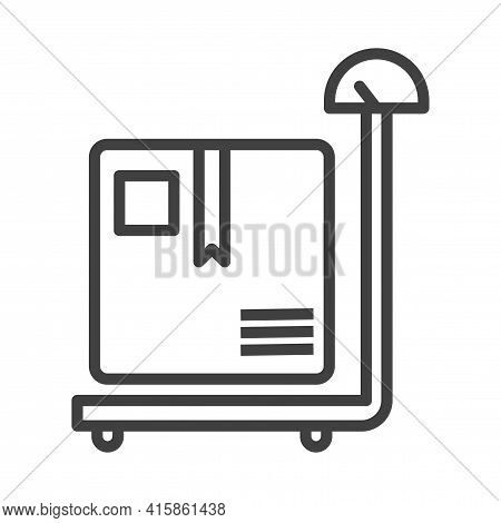Parcel Weighing Icon. Image Of Scales And Boxes For Shipping. Simple Isolated Image. Isolated Vector
