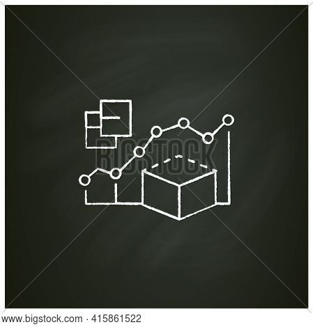 Predictive Modeling Chalk Icon. Process That Uses Data And Statistics To Predict Outcomes With Data