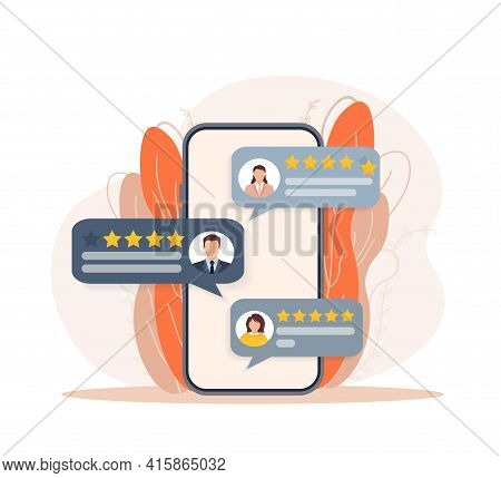 Customer Review, Great Design For Any Purposes. Flat Illustration With Customer Review. Vector Illus