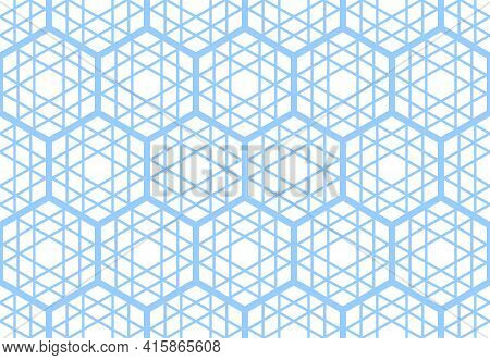Abstract Seamless Geometric Hexagons Grid Pattern And Texture. Vector Art.