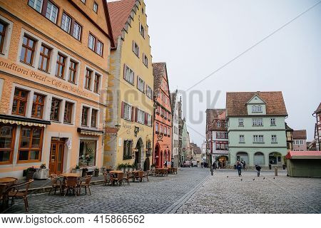 Main Market Square, Colorful Renaissance, Gothic Historical Buildings, Old Town, Half-timbered House