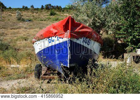Odesa, Ukraine - September 25: The Fishing Motor Boat Is Near Seaside On September 25, 2020 In Odesa
