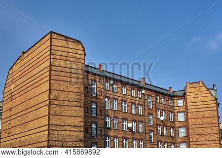 Historic Brick Tenement House In The City Of Poznan
