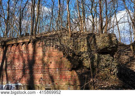 Ruins Of The 19th-century Prussian Fortifications In Poznan
