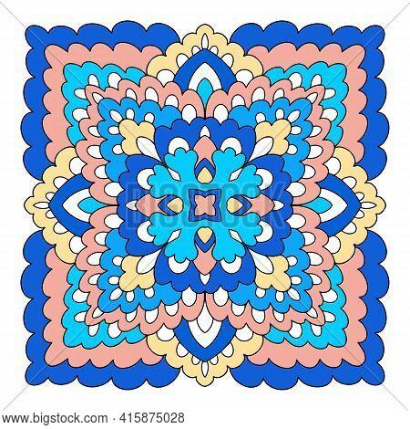 Mystic Mandala Icon. Hand Drawn And Outline Illustration Of Mystic Mandala Vector Icon For Web Desig
