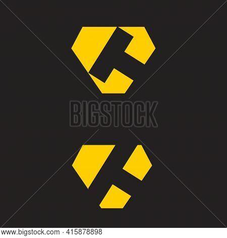 Ct Monogram Lofo. Vector Simple Modern And Bold.