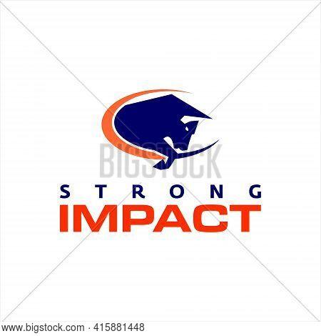 Bison Silhouette Logo Strong Buffalo Animal Vector Graphic Design Element Ideas
