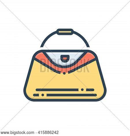 Color Illustration Icon For Handbags  Bag Purse  Woman-purse  Fashion Accessory