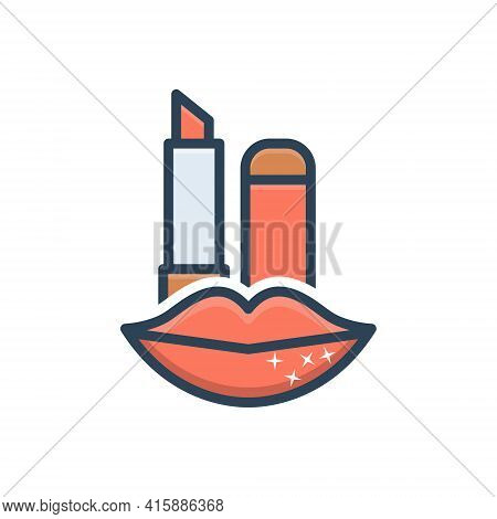 Color Illustration Icon For Lip-care  Lip Care Lip-balm Beatification Softness Cosmetics