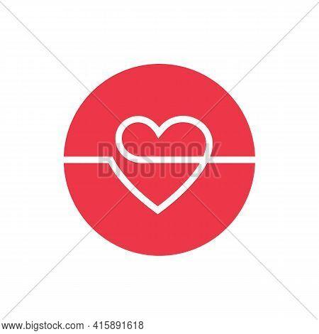 Heart Logo Design, Love Icon Vector, Romance Concept Illustration