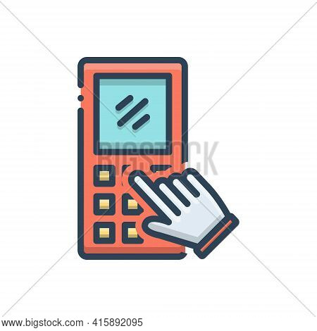 Color Illustration Icon For Dial-pad Dial Pad Mobile Communication