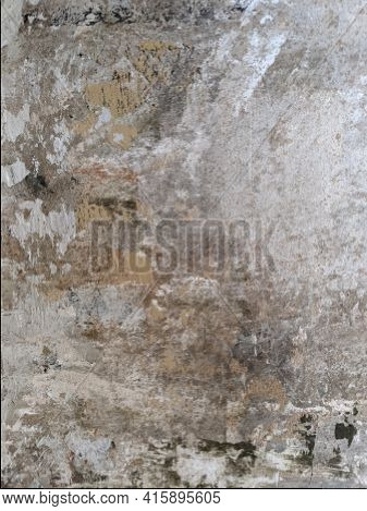 Concrete Wall With Scratches And Scuffs.stained, Scratches, Obsolete, Cracked, Decor,