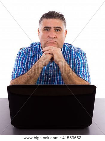 Worried Businessman In His Office