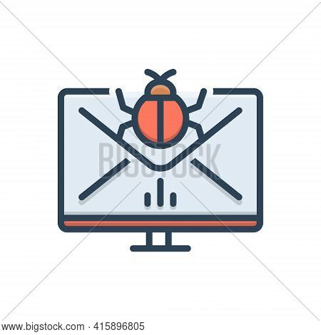 Color Illustration Icon For Spam-management Spam Management Document Email Mail Box