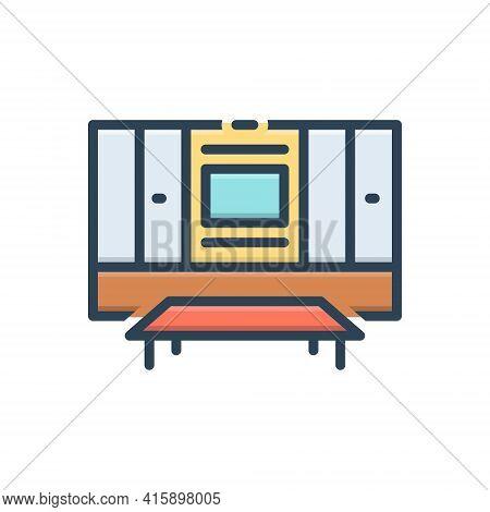 Color Illustration Icon For Interior-designer-tools Interior Designer Tools Architecture Wardrobe
