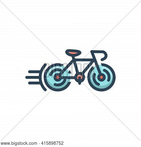 Color Illustration Icon For Cycle-race Bicycle Competition Cycle Cycleing Race Street