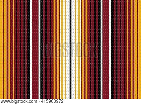 Colorful Stripes Background. Mexican Blanket Vector Seamless Pattern. Serape Design. Ornament For Ci