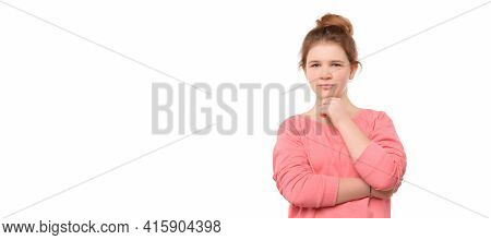 Young Girl 12-14 Years Old Over Isolated Background Looking Confident At The Camera With Smile With