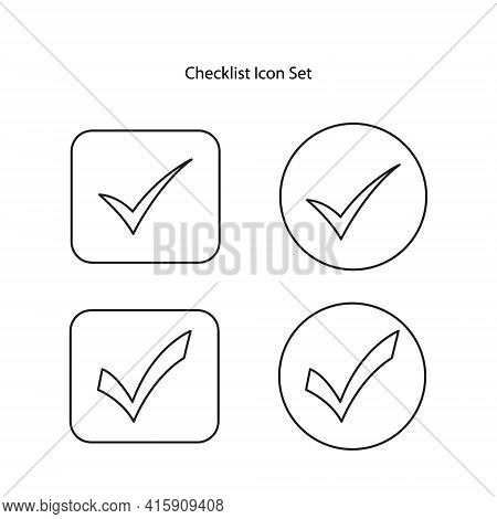 Checklist Icon Set Isolated On White Background. Checklist Icon Trendy And Modern Checklist Symbol F