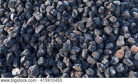 Granules Of The Frozen Lava For Landscape Design