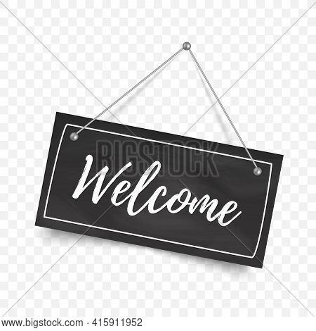 Welcome Sign Isolated. Welcome Signboard. Vector Illustration