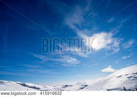 Lessinia Plateau (altopiano Della Lessinia), Regional Natural Park, In Winter With Snow And A Beauti