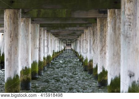 Detail Of The Pier Of Sopot, Near Gdansk On The Baltic Sea In Poland. At 511.5m, The Pier Is The Lon