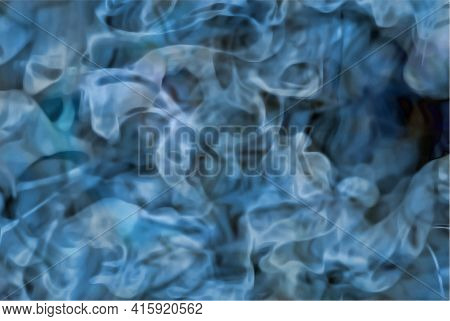 Ocean Water Texture At Depth, Vector Blue Abstract Background
